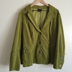 Lane Bryant Green Courdory Blazer